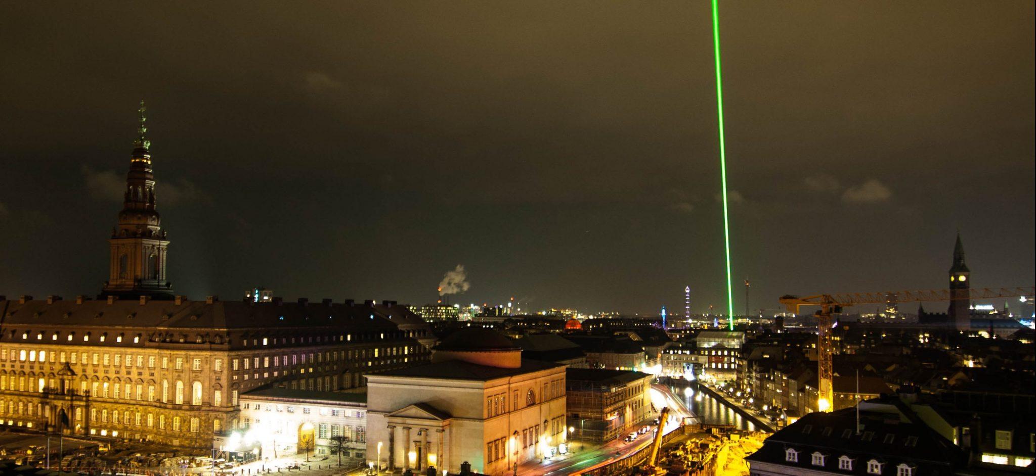 Green Laser Martin Ersted Copenhagen Light Festival