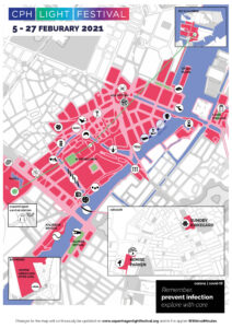 print map copenhagen light festival 2021